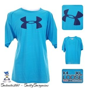 Under Armour XL Loose Fit Athletic Tee Shirt Blue